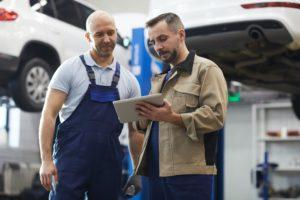 Mechanics in Auto Shop